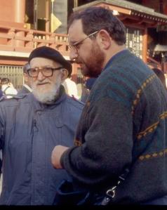 L'abbé Pierre avec Laurent Desmard